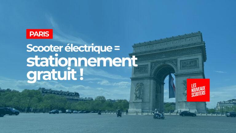 Le stationnement restera gratuit à Paris pour les scooters électriques